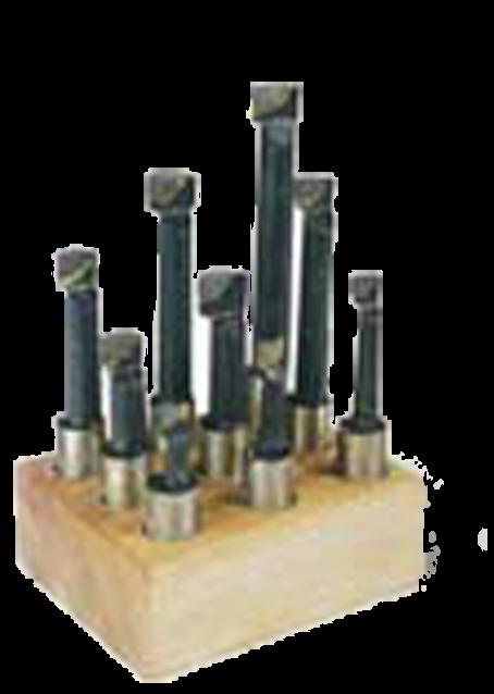 Резцы для расточной головки (комплект 9 шт.)