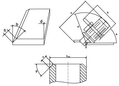 Размеры снятия фаски